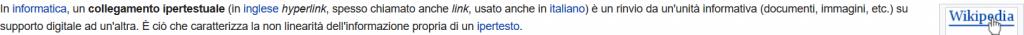 Pagine collegate fra loro su wikipedia