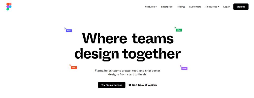 Homepage di Figma