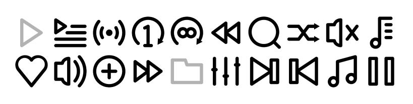 Icone da realizzare su Figma