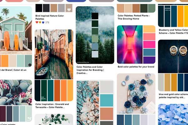 Trovare ispirazione palette su Pinterest