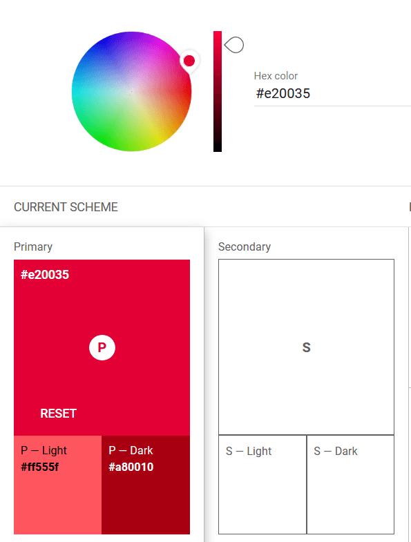 Miglioramento Contrasto primary color