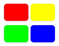 Scelta dei colori rosso giallo verde e blu